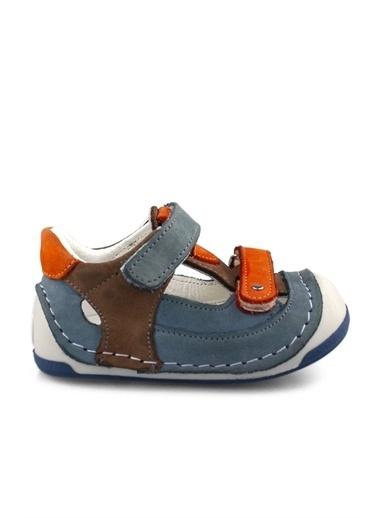 Cici Bebe Ayakkabı Kot Portakal Erkek Çocuk Sandalet Renkli